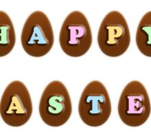 Happy Easter Chocolate Eggs Sticker