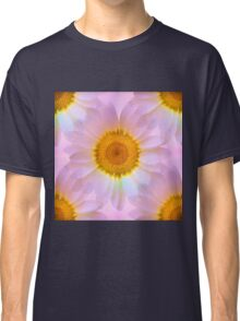 Pink Iridescent Floral Abstract Classic T-Shirt