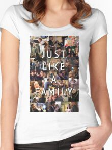 Just Like a Family (Criminal Minds) Women's Fitted Scoop T-Shirt