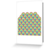 rainbow scallop vector pattern Greeting Card