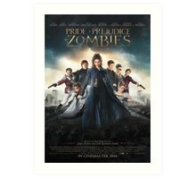 Pride and prejudice and zombies poster Art Print