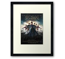 Pride and prejudice and zombies poster Framed Print