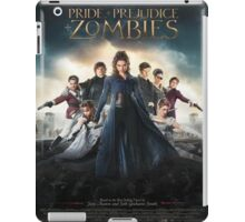 Pride and prejudice and zombies poster iPad Case/Skin