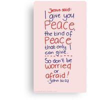 John 14: Peace Canvas Print