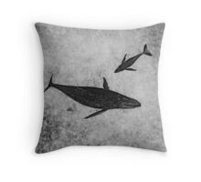 Inner Space (monochrome) Throw Pillow