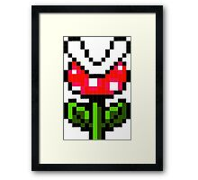 8-Bit Piranha Plant Framed Print