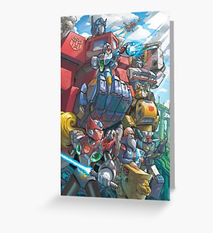 Megaman X Transformers Greeting Card