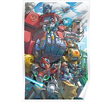 Megaman X Transformers Poster