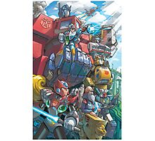 Megaman X Transformers Photographic Print