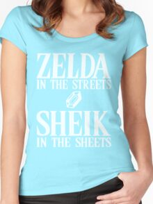 Zelda in the streets, Sheik in the sheets. Women's Fitted Scoop T-Shirt
