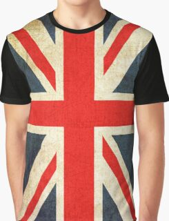 Vintage Union Jack British Flag Graphic T-Shirt