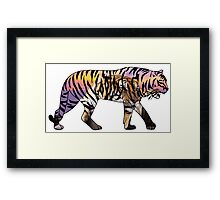 Tiger 1 White Framed Print