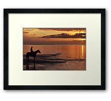 Horse-Riding at Sunset Framed Print