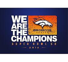 Broncos Champions WATC Photographic Print