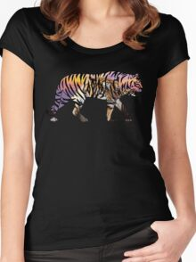 Tiger 1 Black Women's Fitted Scoop T-Shirt