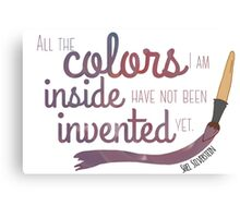 All the Colors I am Inside Canvas Print