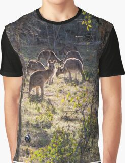 Kangaroos and Magpies - Canberra - Australia Graphic T-Shirt