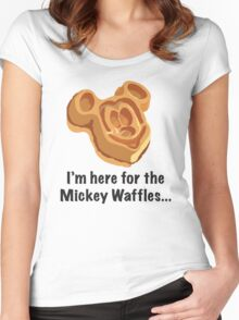 Mickey Waffle Women's Fitted Scoop T-Shirt