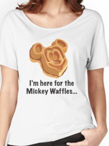 Mickey Waffle Women's Relaxed Fit T-Shirt