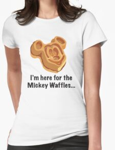 Mickey Waffle Womens Fitted T-Shirt