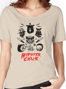 Hipster Crack Funny Men's Tshirt Women's Relaxed Fit T-Shirt