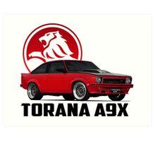 Holden Torana - A9X Hatchback - Red 2 Art Print