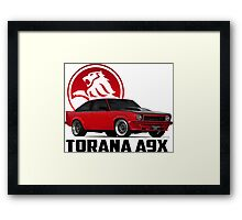 Holden Torana - A9X Hatchback - Red 2 Framed Print