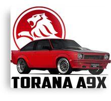 Holden Torana - A9X Hatchback - Red 2 Metal Print