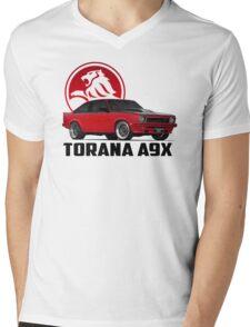 Holden Torana - A9X Hatchback - Red 2 Mens V-Neck T-Shirt