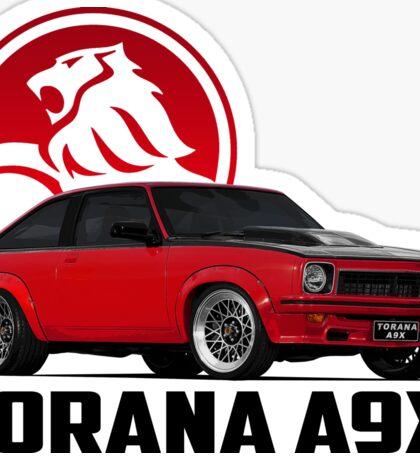 Holden Torana - A9X Hatchback - Red 2 Sticker