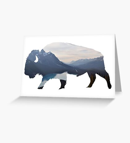 Mountains in the Bison Greeting Card