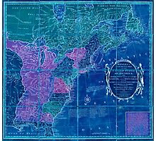 American Revolutionary War Era Maps 1750-1786 353 Bowles's new pocket map of the United States of America the British possessions of Canada Nova Scotia and Inverted Photographic Print