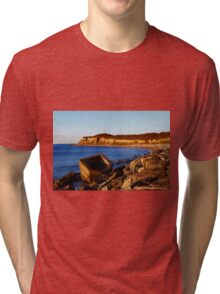 Morning At The End Of Island | Montauk Point, New York  Tri-blend T-Shirt
