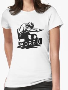 I Am Bored Funny Men's Tshirt Womens Fitted T-Shirt