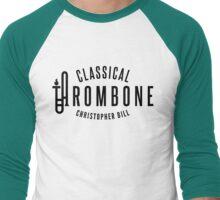 Classical Trombone Full Black Logo Men's Baseball ¾ T-Shirt