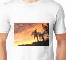 A CREAMY CLOUDY SKY AT SUNSET THRU THE QUEEN PALM Unisex T-Shirt
