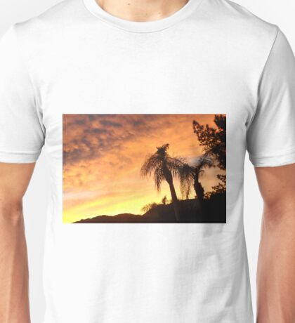 A CREAMY CLOUDY SKY AT SUNSET THRU THE QUEEN PALM Unisex T-Shirt
