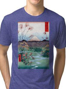 Utagawa Hiroshige Ōtsuki Plain in Kai Province Tri-blend T-Shirt