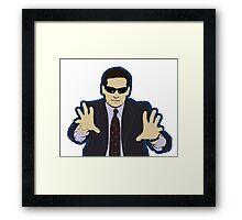 Blind Guy McSqueezy Framed Print