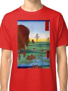 Utagawa Hiroshige Kogane Plain in Shimôsa Province Classic T-Shirt