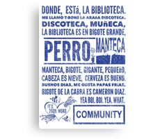 La Biblioteca Rap - Community Canvas Print