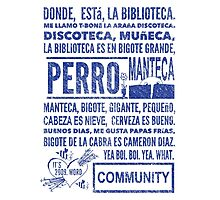 La Biblioteca Rap - Community Photographic Print