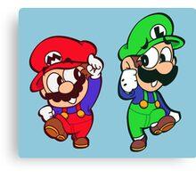 Mario & Luigi Kun Canvas Print