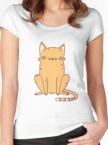 Weird Kitty Women's Fitted Scoop T-Shirt