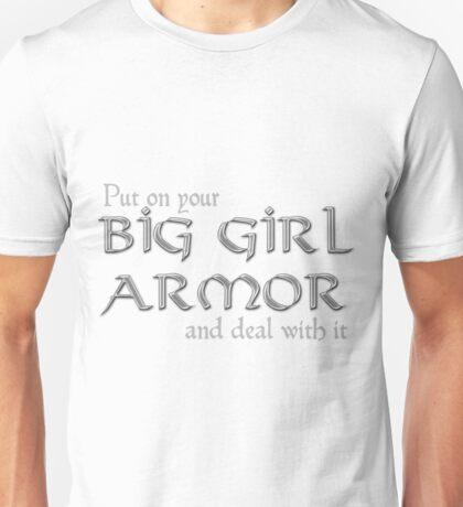 Big Girl Armor - Silver Chain Mail Unisex T-Shirt