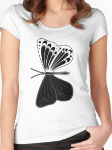 Butterfly: Negative Women's Fitted Scoop T-Shirt
