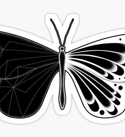 Butterfly: Negative Sticker