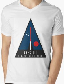 The Martian Ares mission logo Mens V-Neck T-Shirt