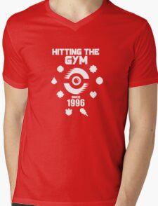 Hitting The Pokemon Gym Mens V-Neck T-Shirt