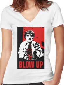 Blow Up - Movie Poster Women's Fitted V-Neck T-Shirt